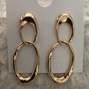long pierced hoop earrings New! Light! Forever21